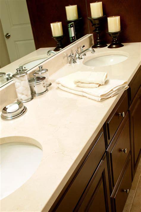 crema marfil marble vanity traditional bathroom boston