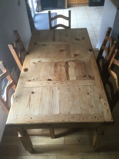 Mexican Dining Table And Chairs Mexican Pine Dining Table And Chairs For Sale In Barntown Wexford From Redz252