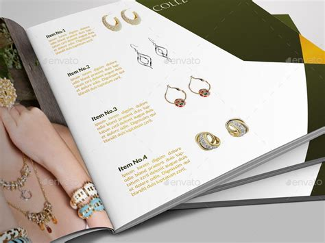Jewelry And Accessories Catalog 12 Pages By Owpictures Graphicriver Jewelry Catalog Template