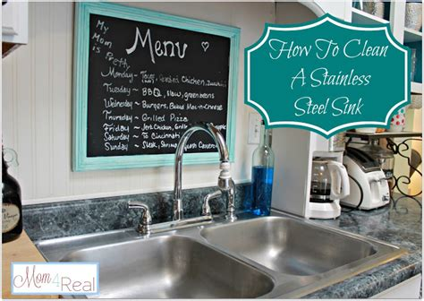 how to clean your stainless steel kitchen sink 4 real