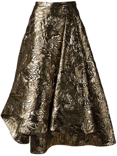 Brocade Skirt lyst brock collection brocade skirt in metallic