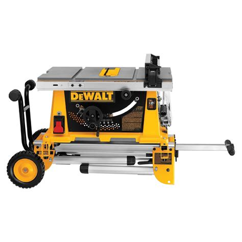 portable bench saw dewalt dw744xrs table saw review portable rolling stand