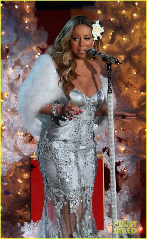 full sized photo of mariah carey rockefeller center tree