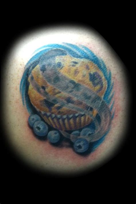 blueberry muffin tattoo by matt skin tattoos by matt