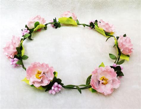 Bunga Karet Rambut Pengantin modis pantai aksesoris rambut pernikahan garland rambut