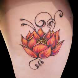 Lotus Flower Design Orange Lotus Flower Designs