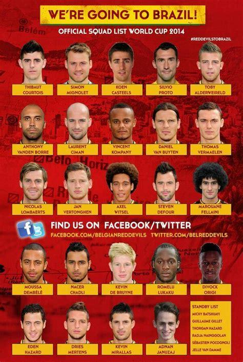la liste des 23 de la belgique pour la coupe du monde 2014