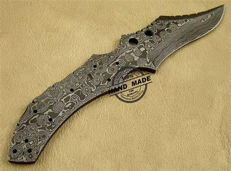 damascus blade knife new damascus skinner blank blade knife custom handmade