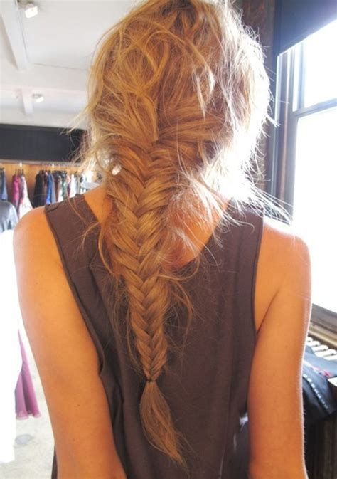 loose long fishtail braided hairstyle popular haircuts