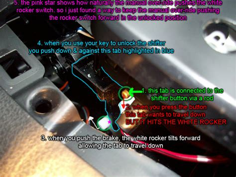 diy brake shift interlock solenoid fix nissan forum