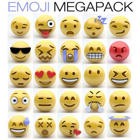 emoji pack 3d model emoji pack cgtrader