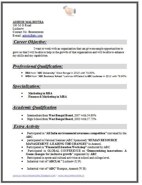 mba marketing fresher resume format 25 best ideas about career objective exles on exles of career objectives