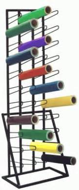 floor rack for 44 vinyl rolls
