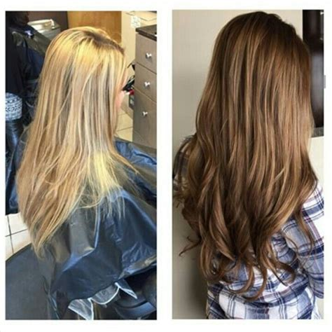 brown hair to blonde hair transformations beautiful hair transformation from blonde to a rich