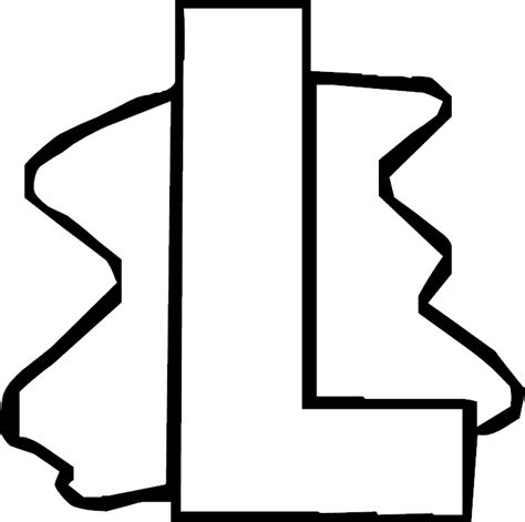 The Letter L Dots Colouring Pages The Letter L Coloring Pages