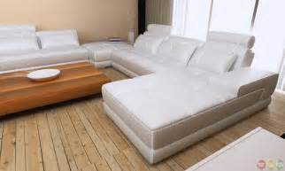 phantom modern gray white leather sectional sofa