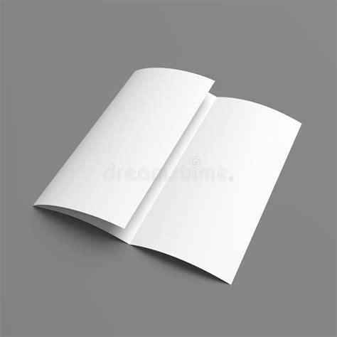 Tri Fold Card Stock Paper - leaflet blank tri fold white paper brochure stock photo