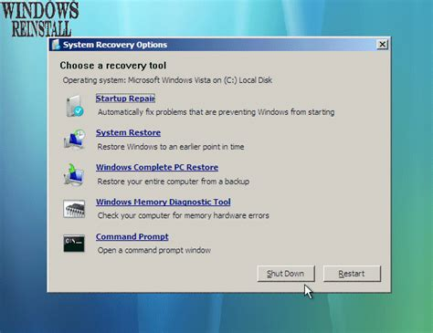 repair startup in win7 ultimate from the windows dvd