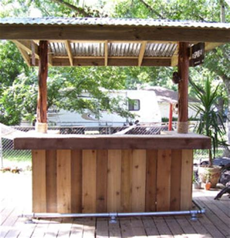 how to build a bar in your backyard build your own tiki bar outside yard pinterest diy