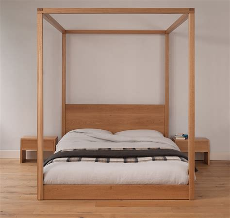 modern four poster bed cube modern four poster bed solid wood natural bed