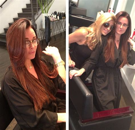 kyle richards needs to cut her hair photo kyle richards goes lighter and cuts her hair the real housewives news dirt gossip