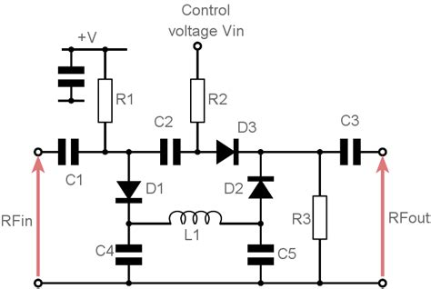 pin diode switch circuit voltage controlled variable attenuator pin diode electronics notes