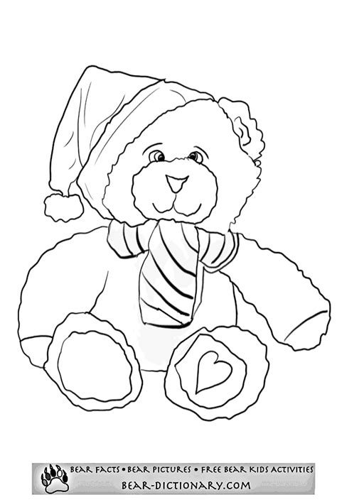 coloring pages christmas bear christmas bear coloring page coloring home