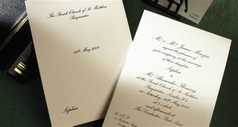 Classic Wedding Stationery by Luxury Personalised Wedding Invitations In Uk The Letter