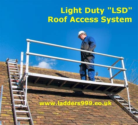 ladder for roofing light duty lsd roof access system by ladders999 lansford