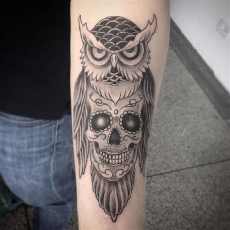 owl and skull tattoo owl skull tattoos designs ideas and meaning tattoos for you