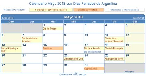 Calendario 2018 Mayo Calendario Mayo 2018 Para Imprimir Argentina