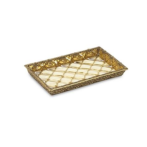 guest towel holder for bathroom crystal bell gold guest towel holder tray bed bath beyond