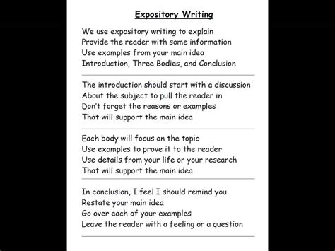 An Expository Essay by Expository Writing Song