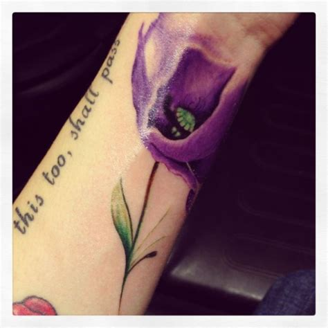 purple tattoo 41 graceful flowers wrist tattoos