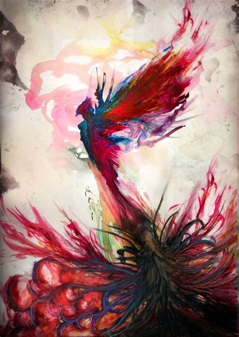 tattoo of phoenix rising from the ashes watercolor phoenix tattoo looks like it s rising from the