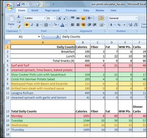 Meal Plan Spreadsheet by One Week Planner Template Calendar Template 2016