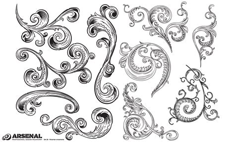 pattern ornamental illustrator adobe illustrator ornaments victorian vector pack