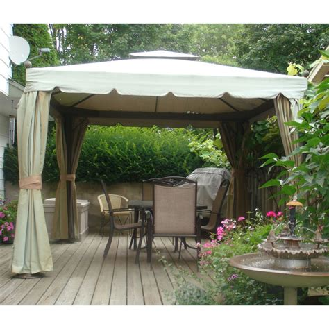 backyard canopy gazebo costco sojag 10 x 10 finial gazebo replacement canopy
