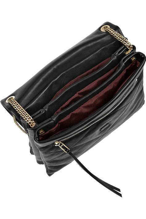 quilted leather lyst lanvin sugar quilted leather shoulder bag in black