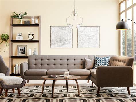 Midcentury Living Room by 20 Mid Century Modern Living Room Ideas Overstock