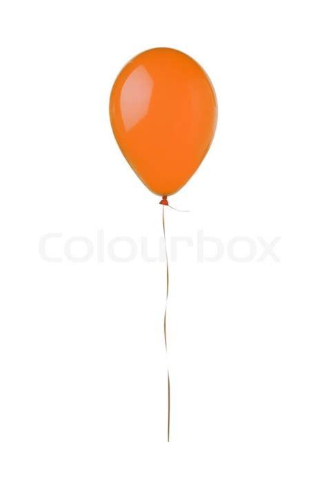 Orange flying balloon isolated on white background stock photo colourbox