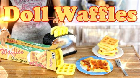 diy how to make doll food waffles handmade doll
