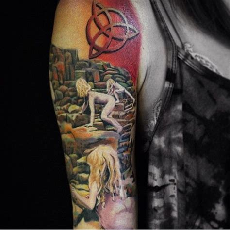 led zeppelin tattoos led zeppelin sleeve in progress by nate bearcat