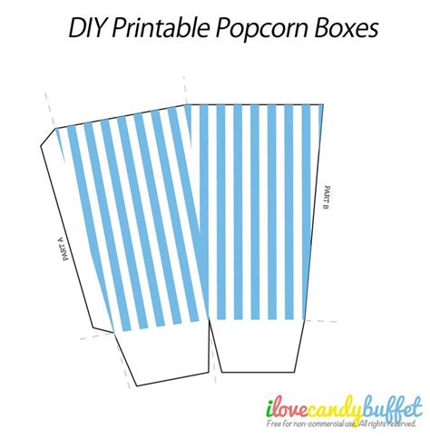 popcorn box template baby shower pinterest
