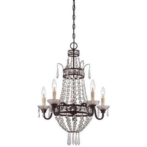 Minka Lavery 5 Light Deep Lahtan Bronze Mini Chandelier Small Chandelier L