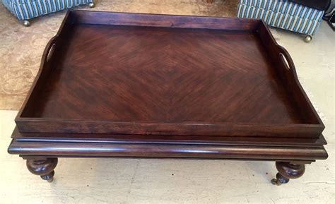 Large Tray For Coffee Table Large Handsome Butler S Tray Coffee Table At 1stdibs
