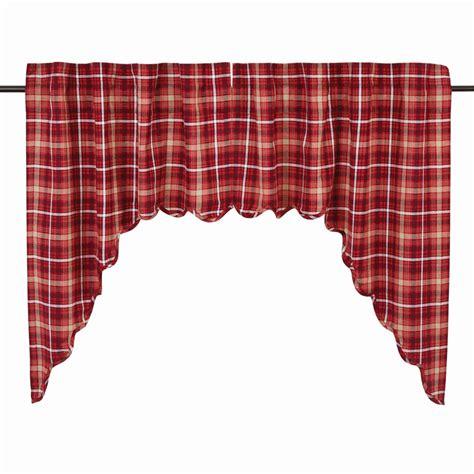 Braxton Plaid Swag Curtains Pair Www
