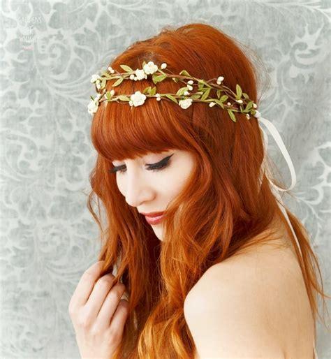 how to create a flower wreath hair piece my view on fashinating boho bridal crown flower hair wreath woodland headpiece