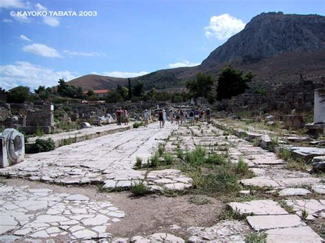 ancient greek roads gate to greece lechaion road and propylaia corinth