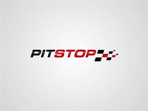 modern professional fitness logo design  pit stop